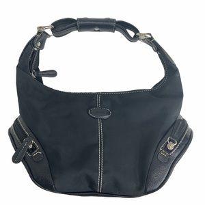 TOD'S Nylon & Leather Trim Soho Boho shoulder bag